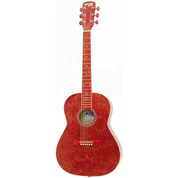 "Darling Divas DD02GLRD 36"" Steel String Acoustic Guitar, Glitter Red Sparkle"