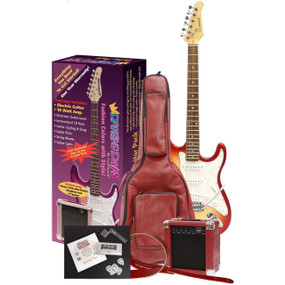 Darling Divas DD950RH Electric Guitar Pack, Red Hot Chili