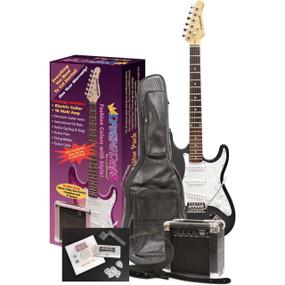 Darling Divas DD950BV Electric Guitar Pack, Black Voodoo