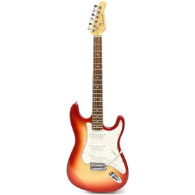 Darling Divas ST950RH Strat Style Electric Guitar, Red Hot Chili