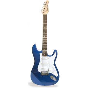 Crestwood ST920TBL Strat Style Electric Guitar, Transparent Blue
