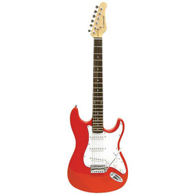 Crestwood ST920R Strat Style Electric Guitar, Red