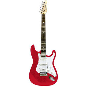 Crestwood ST920MR Strat Style Electric Guitar, Metallic Red