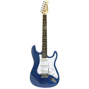 Crestwood ST920MBL Strat Style Electric Guitar, Metallic Blue