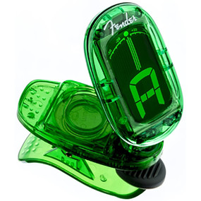 Fender FT-1620 California Series Clip On Chromatic Headstock Tuner, Green