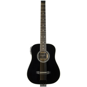 Traveler AG-200EQ Acoustic Electric Travel Guitar with Gig Bag, Black