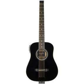 Traveler AG-200EQ Acoustic Electric Travel Guitar with Gig Bag, Black