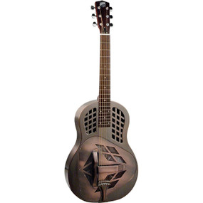 Recording King RM-991-M Tricone Roundneck Acoustic Resonator Guitar, Matte Champagne (RM-991-M)
