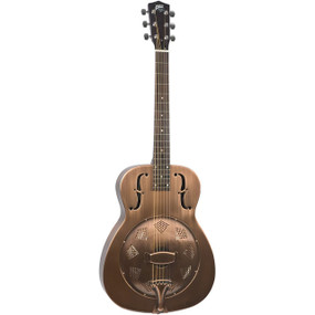 Recording King RM-998-RM Style-0 Roundneck Acoustic Resonator Guitar, Matte Champagne (RM-998-RM)