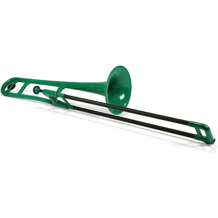 Jiggs pBone PBONE1G Plastic Bb Tenor Trombone with Carrying Bag, Green