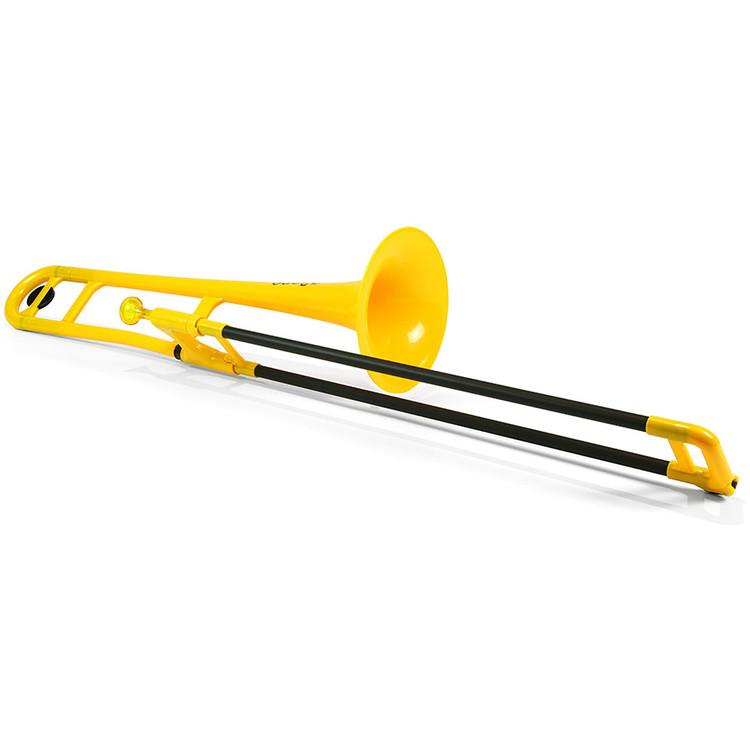 Jiggs pBone PBONE1Y Plastic Bb Tenor Trombone with Carrying Bag, Yellow