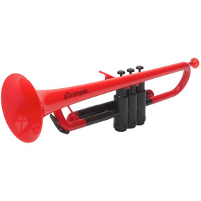 pBone PTRUMPET1R Plastic Bb Trumpet with Gig Bag, Red