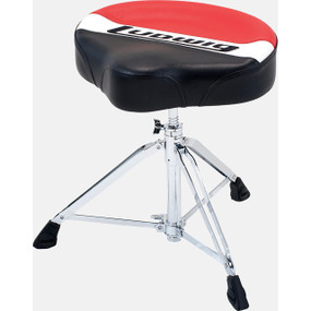 Ludwig LAP50TH Atlas Pro Saddle Drum Throne, Red/Black