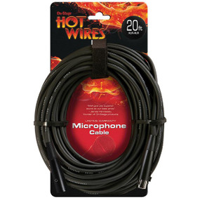 On-Stage Hot Wires MC12-20XLR Microphone Cable, 20 Feet