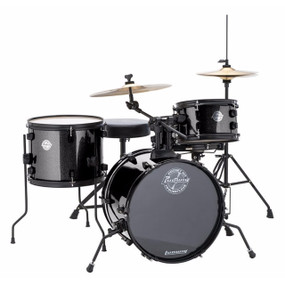 Ludwig LC178X016 Questlove Pocket Kit 4-Piece Junior Drum Set, Black Sparkle