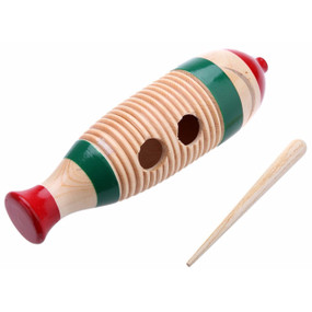 GP Percussion Large Wood Guiro with Scratcher