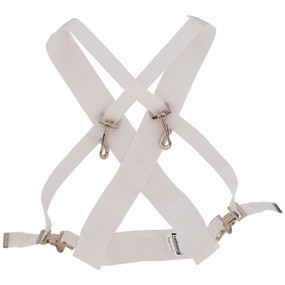 Ludwig LF350W Parade Marching Bass Drum Sling, White