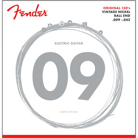 Fender 150L Original Pure Nickel Ball End Electric Guitar Strings, Light (073-0150-403)