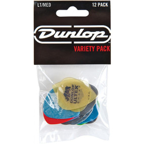 New Dunlop PVP101 Guitar Pick Variety Pack, Assorted, Light/Medium, 12/Player's Pack