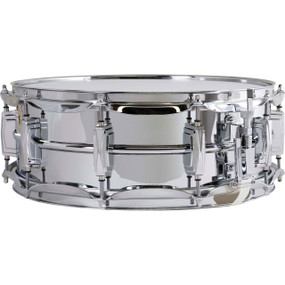 """Ludwig LM400 Supra-Phonic 5"""" X 14"""" Snare Drum, Smooth Chrome Plated Aluminum"""