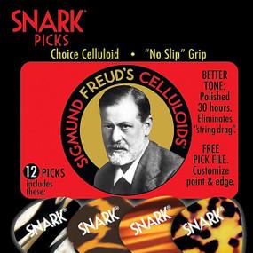 Snark Picks 100C Sigmund Freud Celluloid Guitar Picks, Heavy 1.0mm - 12 Pack