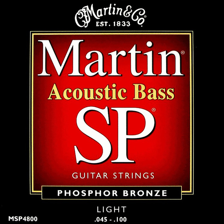 Martin MSP4800 SP 4-String Acoustic Bass Guitar Strings, Light Gauge