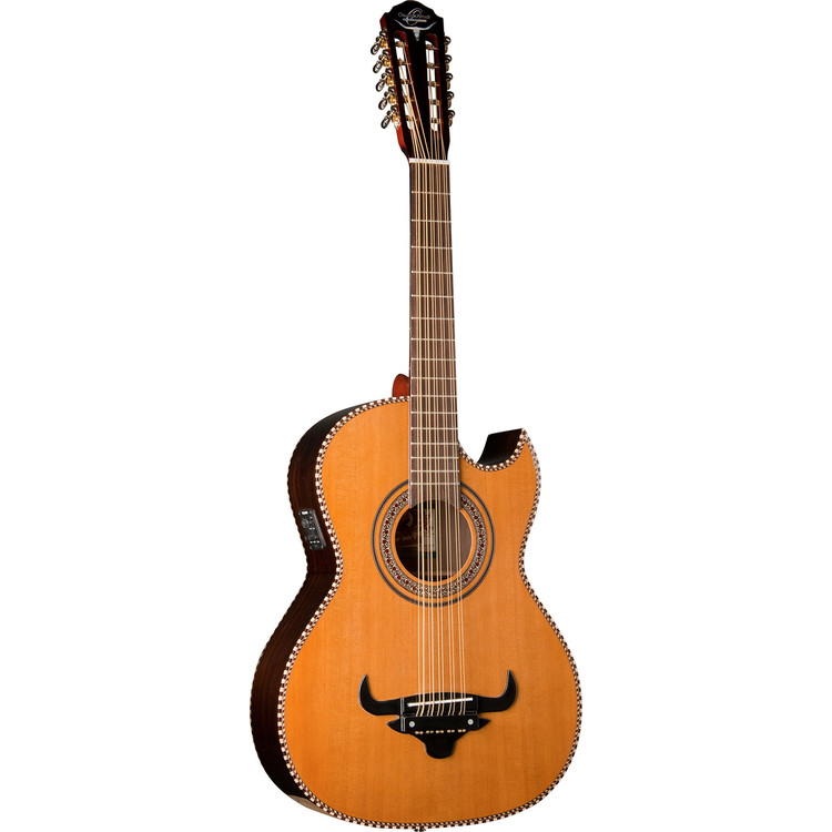 Oscar Schmidt OH32SE Acoustic-Electric Bajo Quinto with Gig Bag, Natural