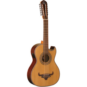 Oscar Schmidt OH52SE Acoustic-Electric Bajo Sexto Guitar w/ Gig Bag, Natural
