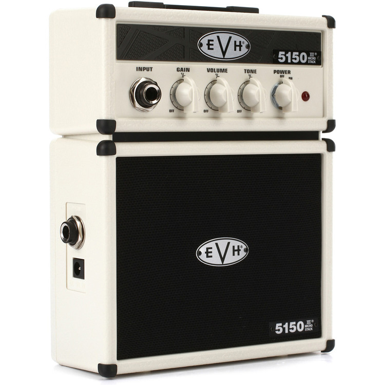 EVH 5150 Micro Stack - Battery Powered Mini Guitar Amplifier, Ivory 022-4800-400