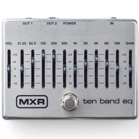 MXR M108S Ten Band EQ Pedal - 10 Band Graphic Equalizer Guitar Pedal, Silver