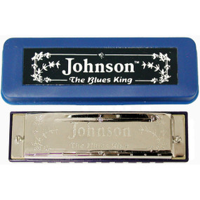 Johnson BK-520-A Blues King Harmonica, Key of A - Single Harp with Case