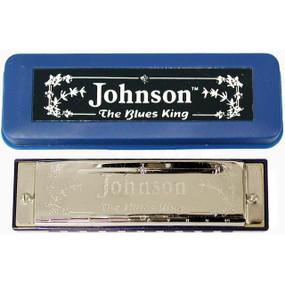 Johnson BK-520-B Blues King Harmonica, Key of B - Single Harp with Case