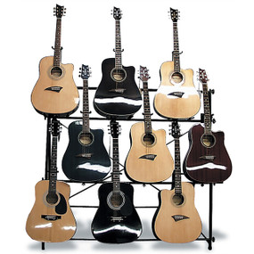 Mirage AGR1009 Multi-Guitar Stand, Displays 9 Acoustic or Electric Guitars
