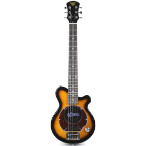 Pignose PGG-200 Mini Electric Travel Guitar with Built-in Amp, Sunburst (PGG-200SB)