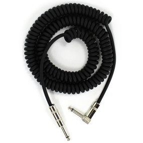 ZoZo Heavy Duty 20' Ft Vintage Coiled Guitar Cable, Right Angle/Straight ZZPM204