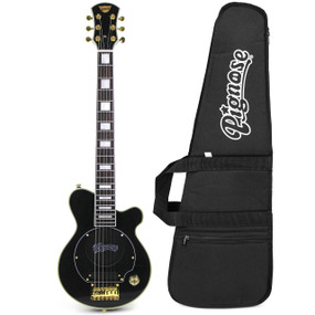 Pignose Deluxe Mini Electric Travel Guitar w/ Built in Amp & Gig Bag, Black PGG-200BK