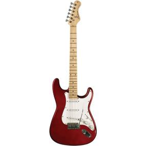 Sundown SD-100MR Strat Style Double Cutaway 6-String Electric Guitar, Metallic Red
