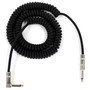 Perfektion Black Heavy Duty Vintage 20FT Coiled Guitar Instrument Cable - 2 PACK