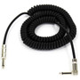 ZoZo Coiled Guitar Cable, 20' Foot Right Angle/Straight Instrument Cable - 4 PACK