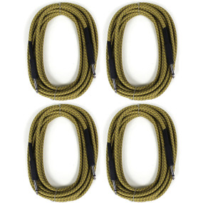 ZoZo Vintage Tweed 20' ft Guitar Cable 4 PACK - Heavy Duty Instrument Cord