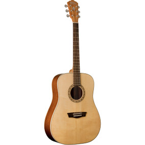 Washburn WD7S Harvest Series Solid Spruce Top Dreadnought Acoustic Guitar, Natural