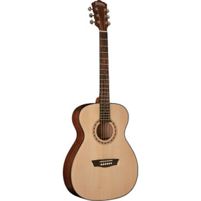 Washburn AF5K Apprentice 5 Series Acoustic Folk Body Guitar w/ Hard Case