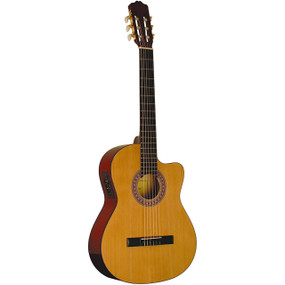 Indiana IC-25CE Full Size Nylon String Classical Acoustic Electric Guitar, Natural
