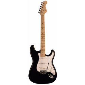 Indiana ICE-1BK Indy Custom Solid-Body Electric Guitar, Black