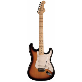 Indiana ICE-1TSB Indy Custom Solid-Body Electric Guitar, Tobacco Burst