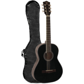 Indiana Pinto 36-Inch Steel String Acoustic Guitar with Gig Bag, Black