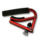 Shubb L1RED Lite Capo for Steel String Acoustic & Electric Guitars, Red