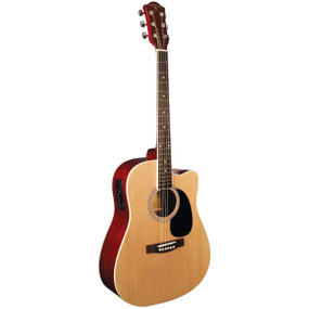 Indiana S-SCOUT-NCE Scout Dreadnought Cutaway Acoustic Electric Guitar, Natural