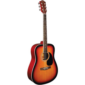 Indiana S-SCOUT-VB Scout Spruce Top Dreadnought Acoustic Guitar, Tobacco Burst