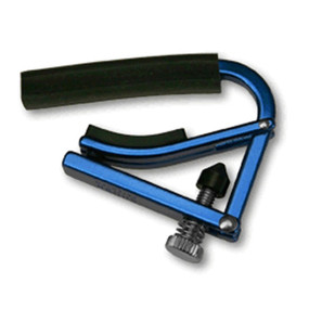 Shubb L1BLU Lite Capo for Steel String Acoustic & Electric Guitars, Blue